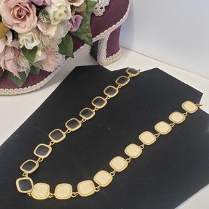 Vintage Reversible Black to Cream Necklace
